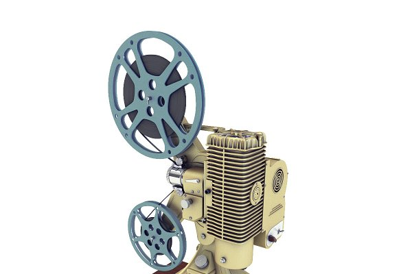 3D Appliances - Old 8mm projector Vray