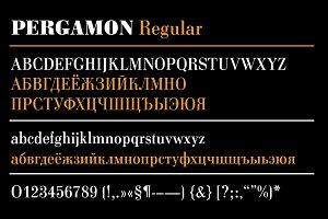 Pergamon Extended Bold Italic