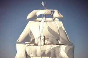 Ship Animated Sail