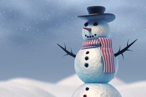 SnowMan Vray