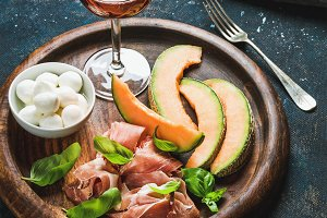 Italian antipasti snack for wine
