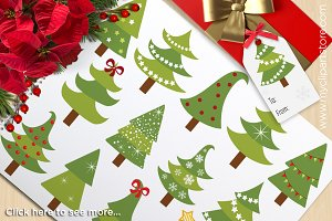 Christmas Trees - Vector Clipart