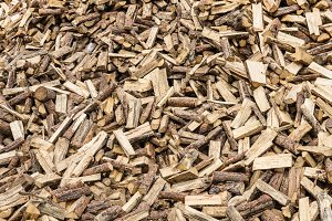 Wood pile of firewood