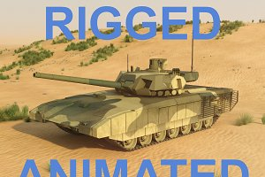 T-14 Armata. Rigged and animated
