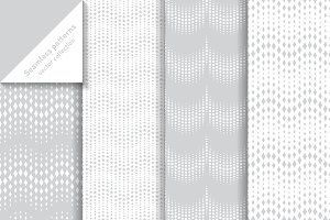 Waved halftone seamless patterns