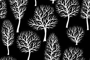 Seamless patterns with trees.