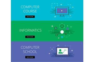 Computer School banner set