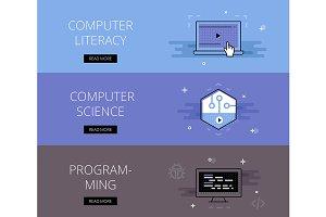 Computer Literacy banner set