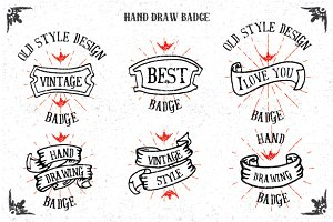 Hand Drawn Badges Vol 2