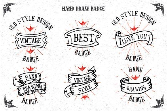 Hand Drawn Badges Vol 2 Logo Templates Creative Market
