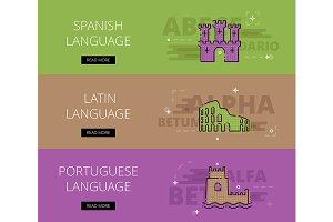 Spanish Language banner set