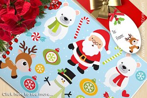 It's Christmas, Santa Vector Clipart