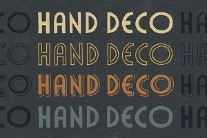 HandDeco 4-Font Family