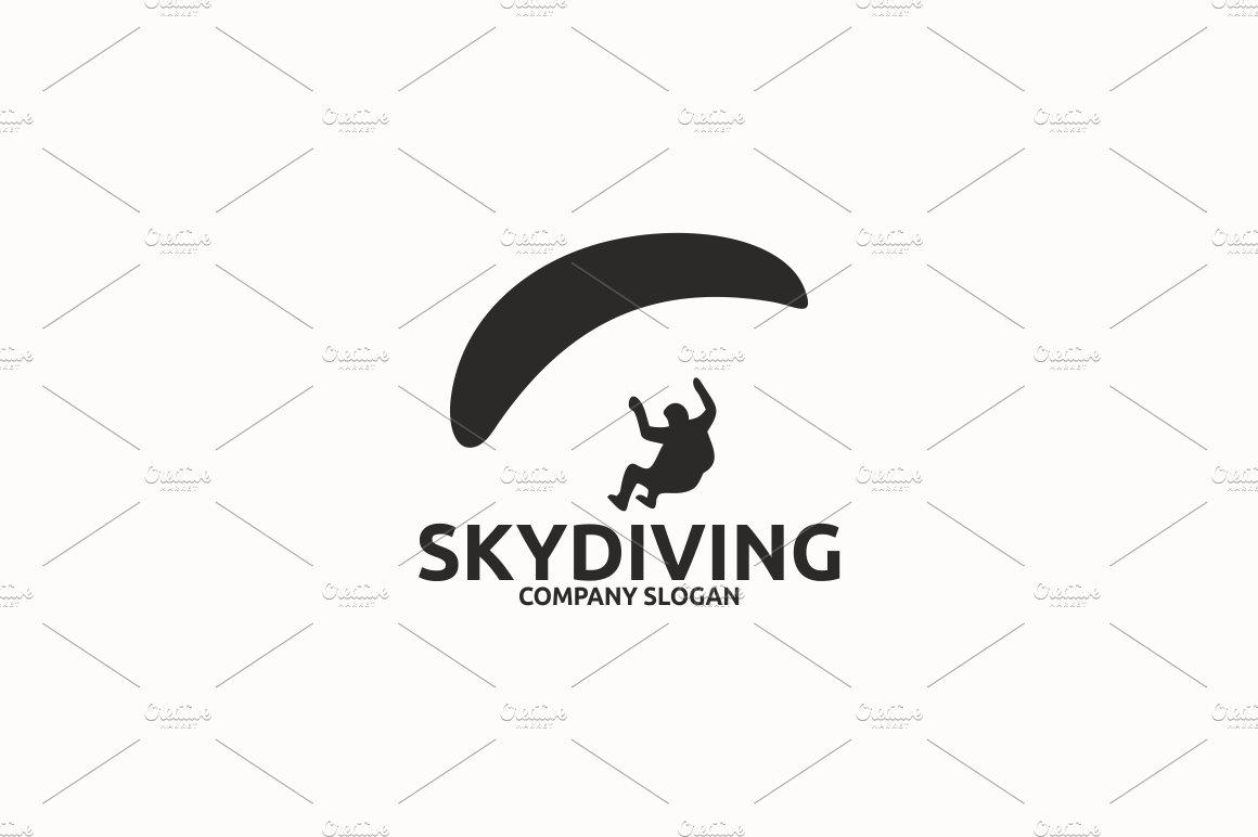 Skydiving Logo Templates Creative Market