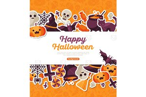 Halloween Orange Banner