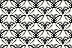 Seamless fan pattern