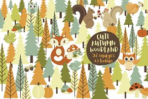 Cute Autumn Woodland