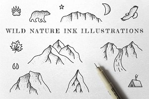 Wild Nature - Ink Illustrations