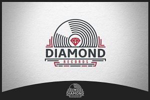 Diamond Records Logo