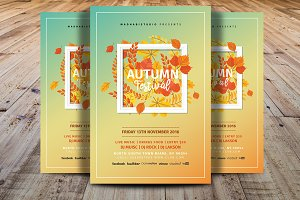 Autumn Festival Flyer Template V3