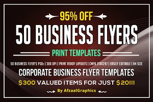 50 Corporate Business Flyers Bundle