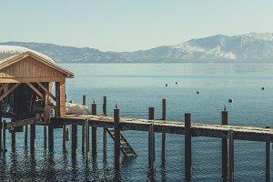 Pier on Tahoe Lake