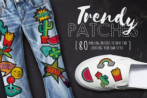 Trendy Patches: vintage 90's set!