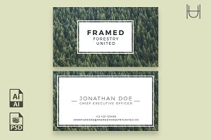 Framed - Business Card Template