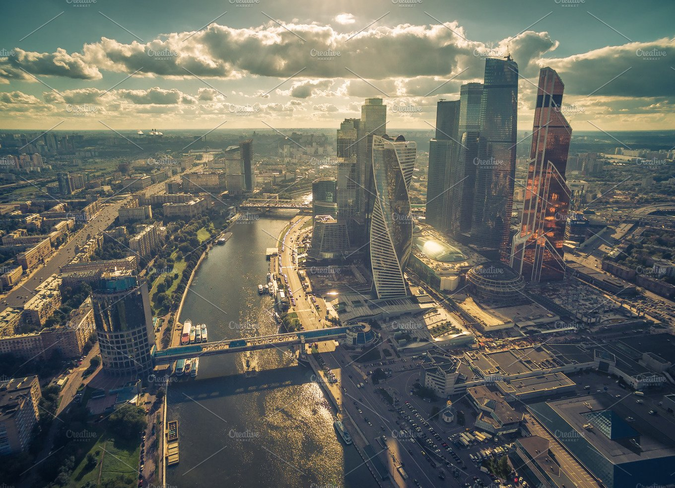 Aerial view of Moscow downtown ~ Architecture Photos ...