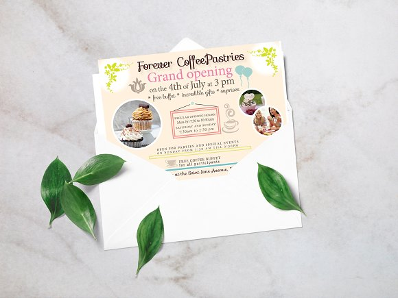 coffee shop invitation invitation templates creative market