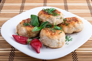 Plate with russian food