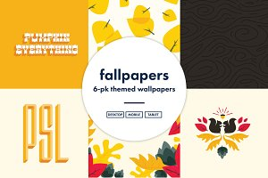 Fallpapers 6-Pk Themed Wallpapers