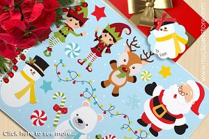 Christmas, Santa's Helpers Clipart