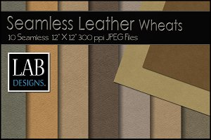 10 Seamless Leather Textures Wheat
