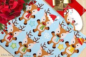 Christmas, Santa's Reindeer Clipart
