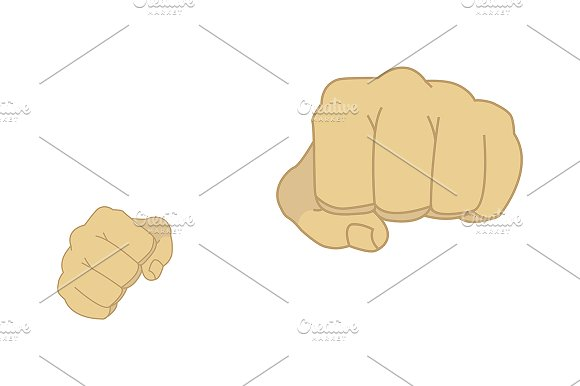 Clenched man fists. Vector - Illustrations