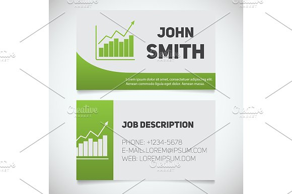 Business card print template. Vector - Product Mockups