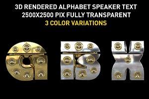3D Speaker Lettering Pack