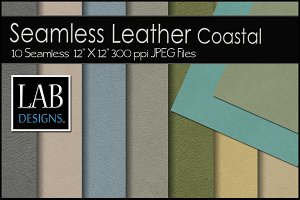 10 Seamless Leathers Coastal Dyes