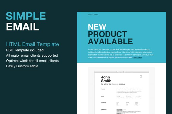 Simple html email template website templates creative for Html code for email template
