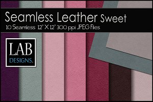 10 Seamless Leather Textures Sweet