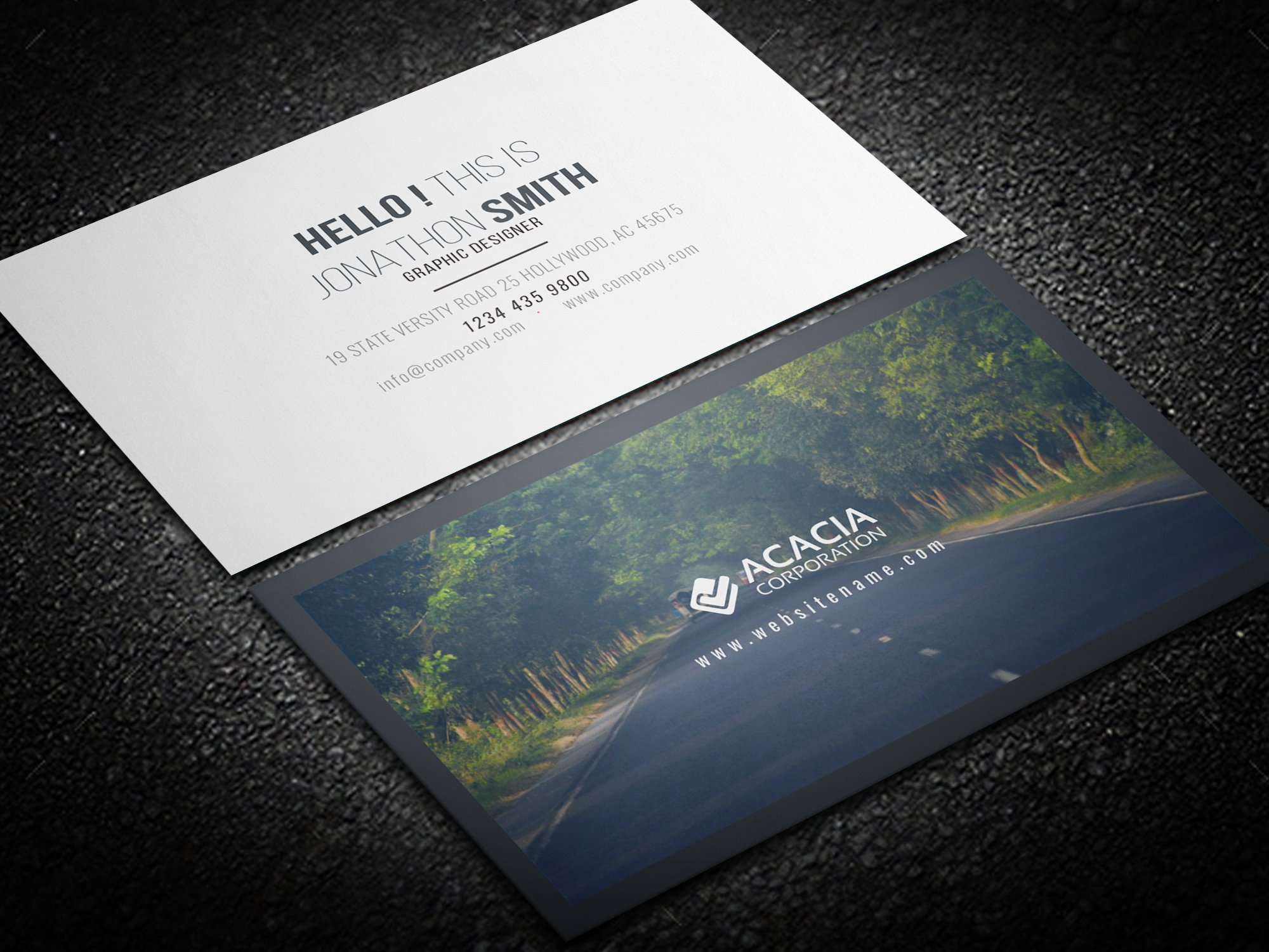 forest business card business card templates creative market - 100 Free Business Cards
