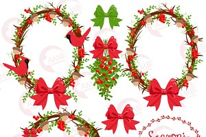 Christmas Wreaths Clipart 1422