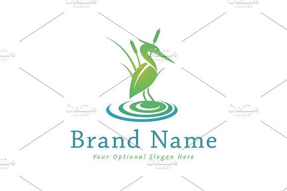 Heron in Marsh Logo