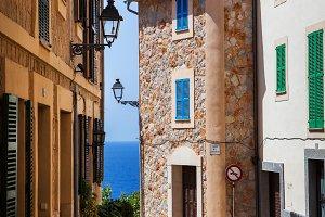 Narrow street in old town of Spain