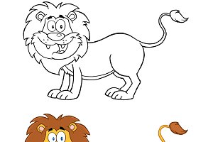 Lion Cartoon Character Collection