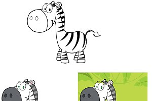 Smiling Zebra Collection Set