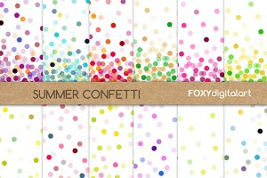 Confetti Digital Papers Scrapbooking