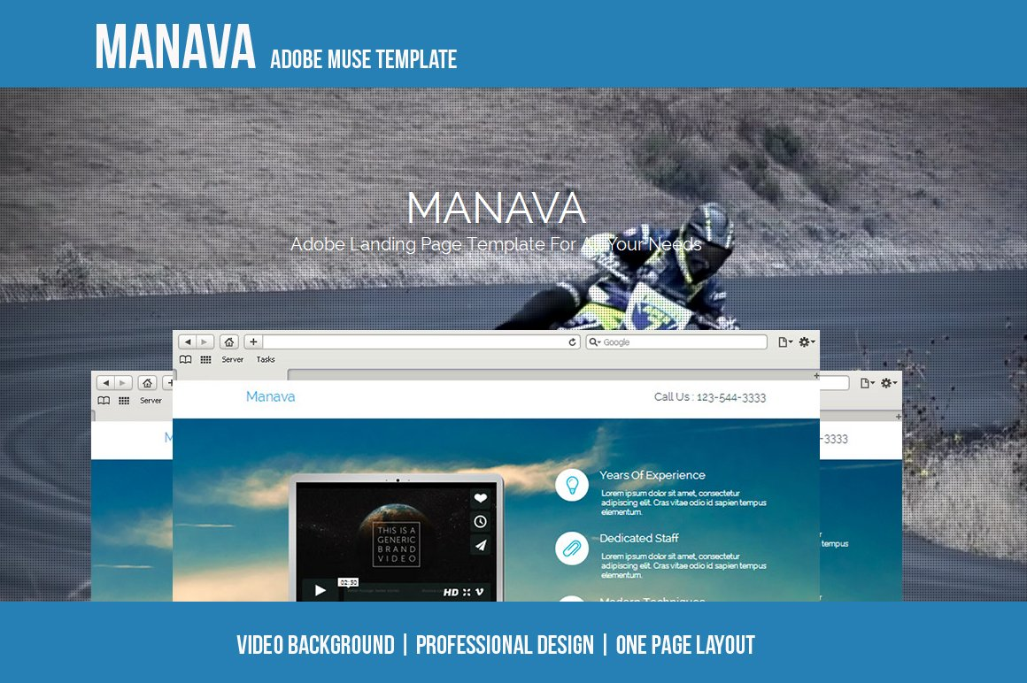 Manava - Adobe Muse Template ~ Website Templates ~ Creative Market