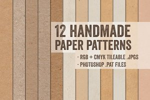 12 Handmade Tileable Paper Patterns